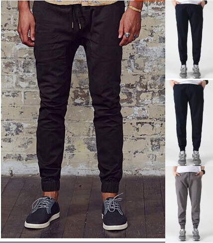 7f7c515f1 Fancy Style Jogger Pants Cuff Men Elastic Waist Draw String Casual Men's  Trousers Big Size 28-34L High quality