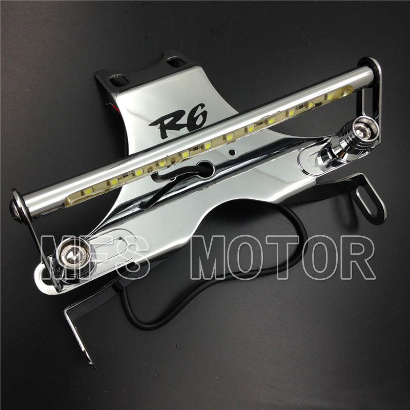Motorcycle Part motor LED Light Fender Eliminator For Yamaha YZF-R6 YZF R6 2006 2007 2008 2009 Chrome aftermarket free shipping motorcycle parts eliminator tidy tail fit for 2006 2012 yzf r6 yzf r6 yzfr6