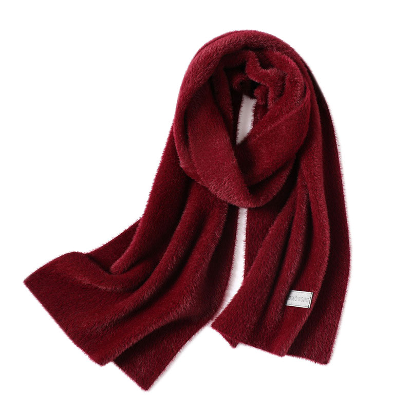 Women Solid Color Cashmere Scarves Tassel Lady Winter Thick Warm Scarf Shawl