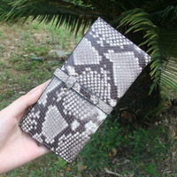 Snake Gray And White Women Long Wallets Genuine Leather Female Hand Bag High Quality Lady Purse