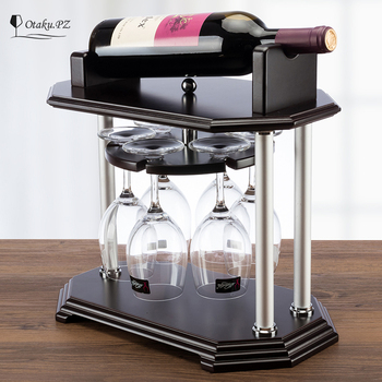 rotating wine rack wooden red wine rack creative grape wine bottle rack high-end cup rack European fashion accessories
