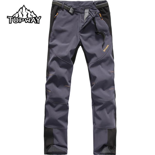 2016 Hot Slae Transpirable Pantalones de Cáscara Suave Al Aire Libre de Los Hombres A Prueba de Viento Resistente Al Agua Senderismo Pantalones Corredores Pantalon Homme