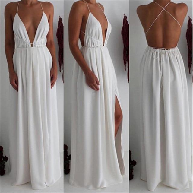 Bigsweety Sexy Maxi Dress Women Sleeveless Backless Boho Long Dress Bridesmaid Formal Summer Party Bandage Slit Dress Vestidos 4