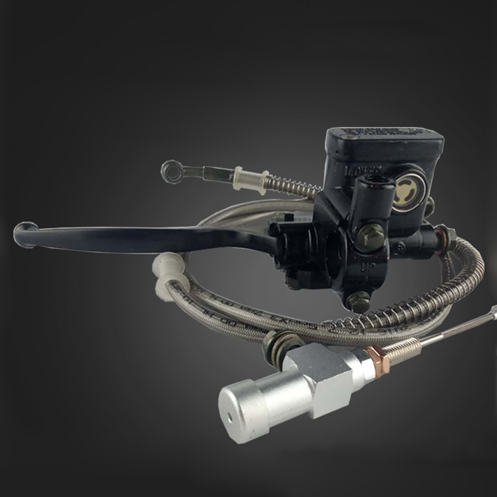 Motorcycle Motorcross modification brake pump Master adjustable Cylinder Pump Hydraulic clutch kit with Hose