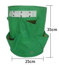 M-4 цвета Клык цвета черный утолщение горшок из ткани горшок для растений контейнер для проращивания растут сумки для инструментов сад горшки товары для огорода