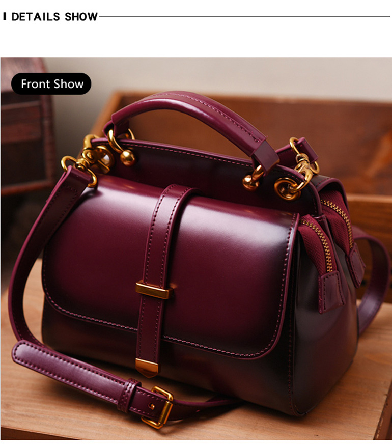 5ddc8b14868d 6Color Women Genuine Leather Handbags Famous Brand Handbag Messenger Small  Bags Cow Leather Shoulder Bag Fashion Tote Sac A Main