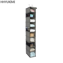 HHYUKIMI 10 Layers Durable Oxford Cloth Organizer Rack Wardrobe Clothes Bureau Closet Tidy Home Foldable Storage Hanging Bag