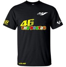 El envío libre 2017 Nueva Camisa de SECADO rápido El Médico de MotoGP Valentino Rossi VR46 46 Deportes Camiseta de Carreras VR46