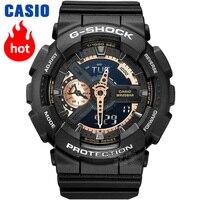 Часы Casio G SHOCK Мужские кварцевые спортивные часы с большим циферблатом на открытом воздухе водонепроницаемыеg shock Часы GA 110RG