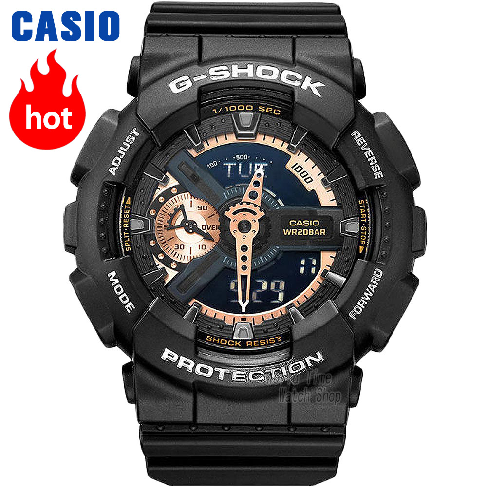 Casio watch G-SHOCK Men's quartz sports watch large dial waterproof outdoor g shock Watch GA-110RG чехол для ноутбука 12 cozi stand sleeve compatibility серый cpss1104