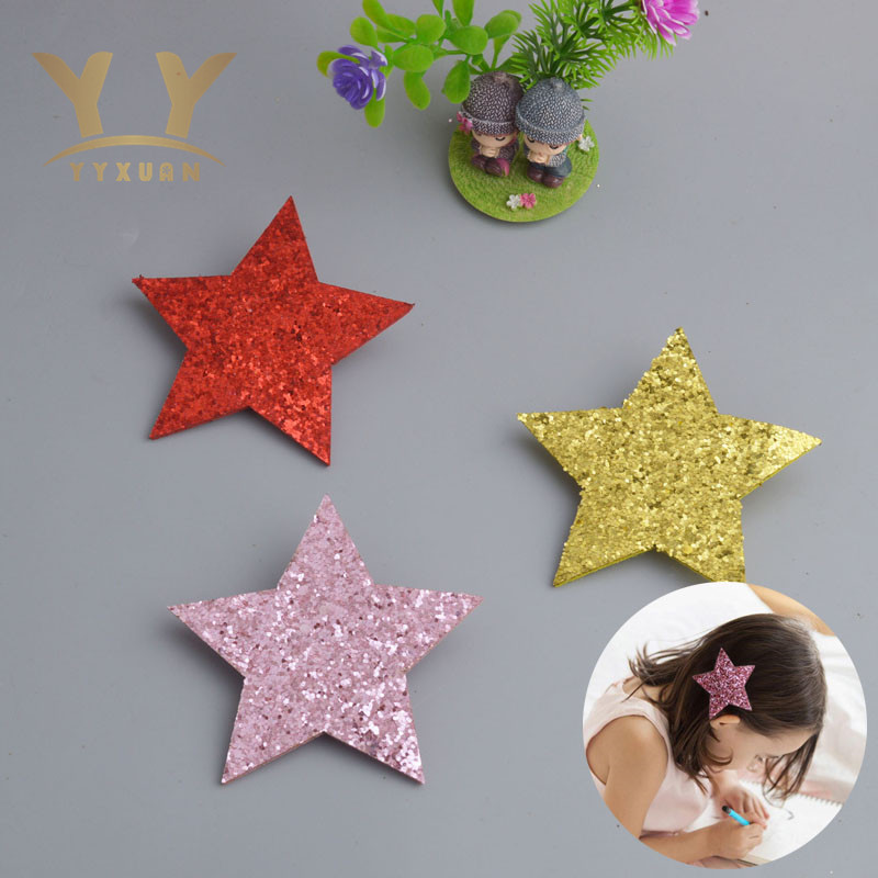 YYXUAN Big Star girls kids hair clips for children headdress Glittle hairpin hair barrettes  AS42 new arrival ladies barrettes colorful dots cloth hair clips bb hairpin for girls women hair accessories 8pcs lot