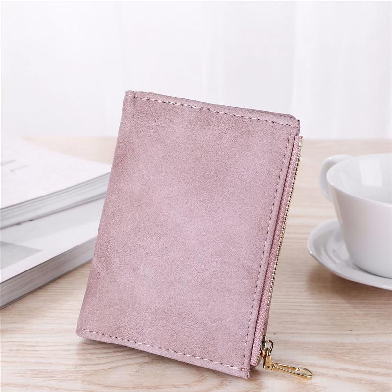 Image 2 - WESTERN AUSPICIOUS Purse Female Purple/pink/gray/blue/black Wallet Femal PU Leather Bank/ID/Credit Card Holder Wallet Women 2020Wallets   -