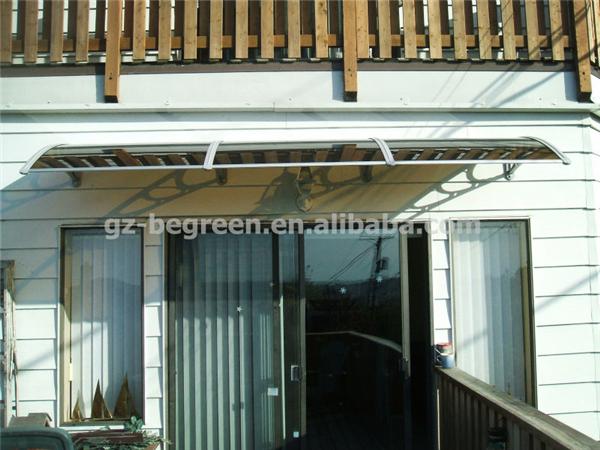 YP100480-alu 100x480 cm Cinza/Preto/Branco de Alumínio Suporte de Entrada Toldo, Telhado de Policarbonato, Toldo de Entrada
