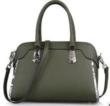 2015 eleganten Serpentinenmuster Patchwork Weibliche Taschen Mode damen Handtaschen Hochwertige Echtledertasche