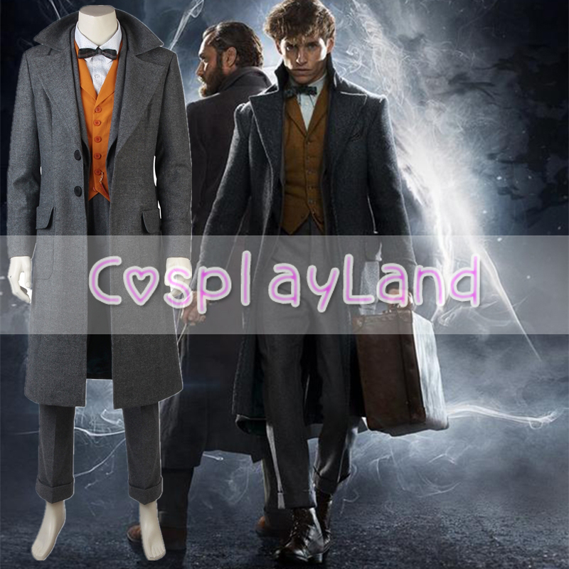 Fantastic Beasts The Crimes of Grindelwald Newt Scamander Cosplay Costume Halloween Costumes Cosplay Suit Newt Scamander Outfit