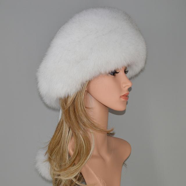 Real Fox Fur Bomber Hats
