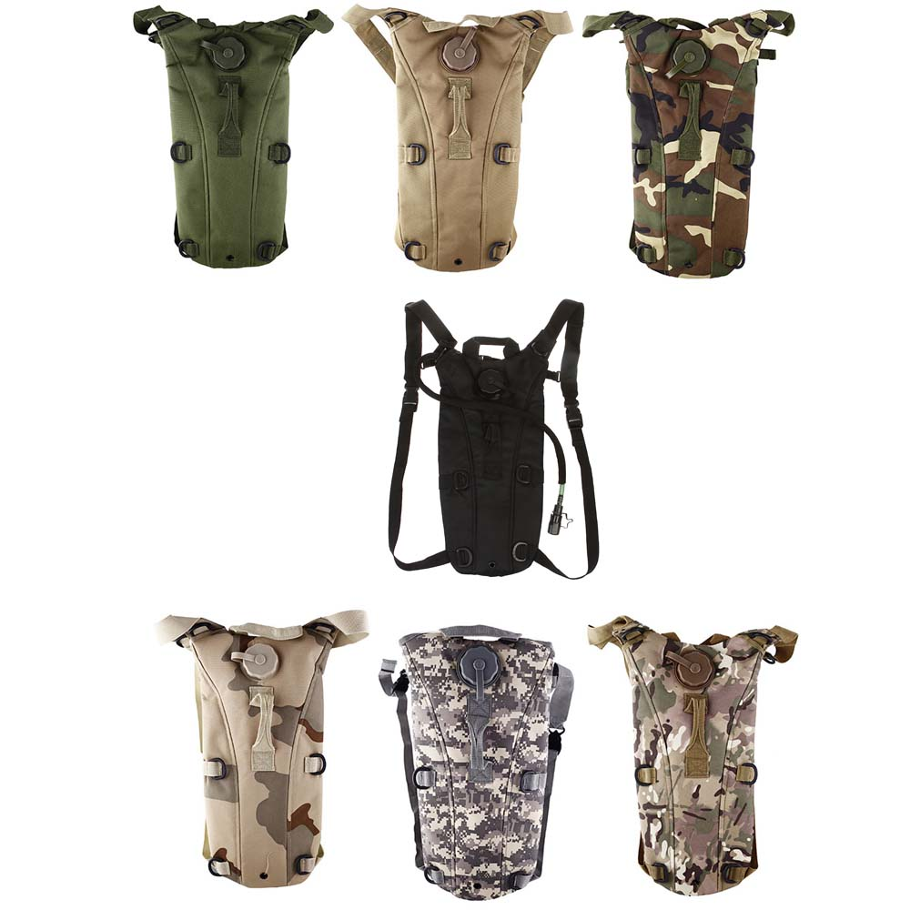 Hydration Bladder Pack 3L TPU Camping Water font b Bag b font Nylon Waterproof Tactical Military