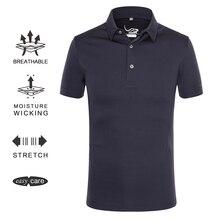 EAGEGOF полиэстер Мужская с коротким рукавом гольф спортивная футболка-поло с отложным воротником БПЛА гольф спортивная одежда