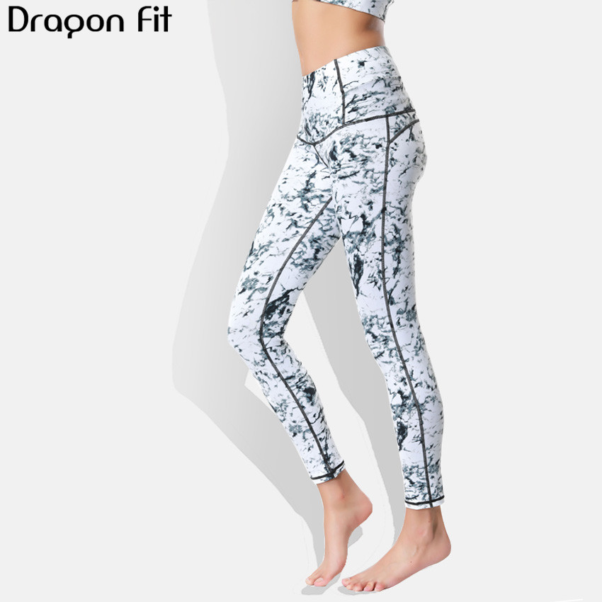 Dragon Fit Breathable Print Yoga Pants Quick Dry Sport Pants Women Fitness Gym Running Trousers Sportswear Tights Yoga Leggings women yoga pants sets fitness yoga leggings elastic tights sport running gym bra breathable pants t shirt 3pcs setleri clothes