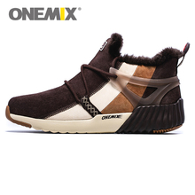 ONEMIX New Arrival Winter Men s Boots Warm Wool Sports Shoes Athletic Sneakers Running Shoes for