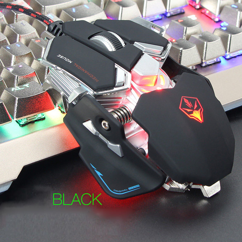 Wired Macros Gaming Mouse Computer 4000 DPI 10 Buttons Backlit Optical Gamer Mice Mechanical Ergonomic PC Desktop Peripherals