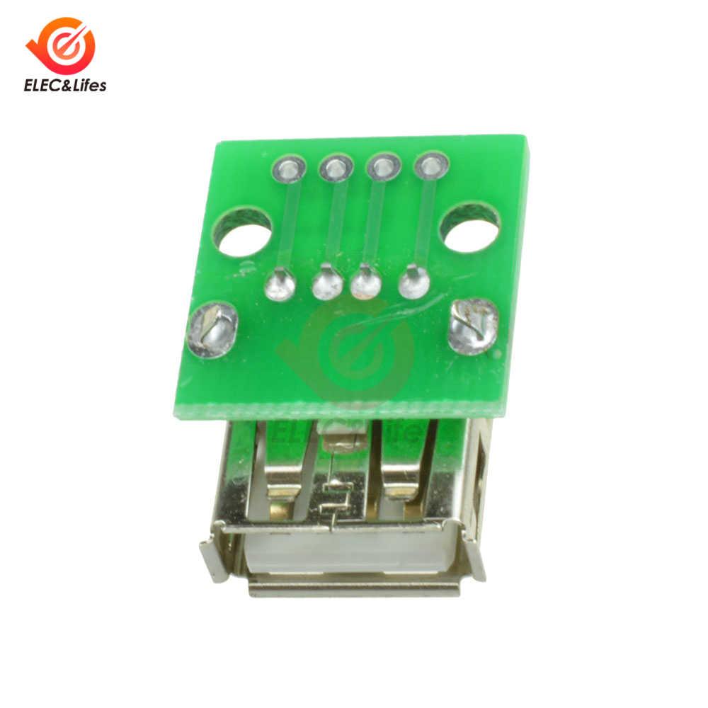 10 шт. Тип у муфтовый стыковочный USB к DIP 2,54 мм 4-контактный Pinboard адаптер для печатной платы конвертер для Arduino разъемы