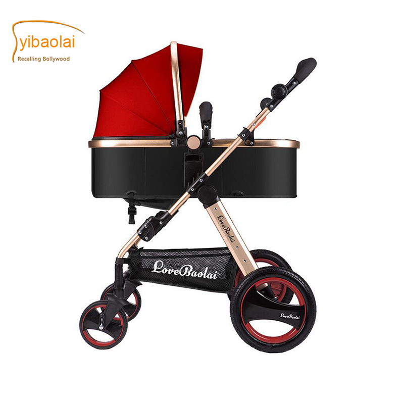 Baby stroller European high landscape luxury baby trolley super war ax wheel baby strollers  light foldable newborn umbrella car