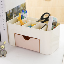 1 Pcs Portable Plastic 6 Grids Makeup Storage Box For Lipstick Holder Organizer Nail Polish Display Stand
