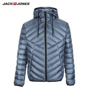 Image 5 - JackJones erkek hafif taşınabilir aşağı ceket parka ceket erkek giyim 218312510