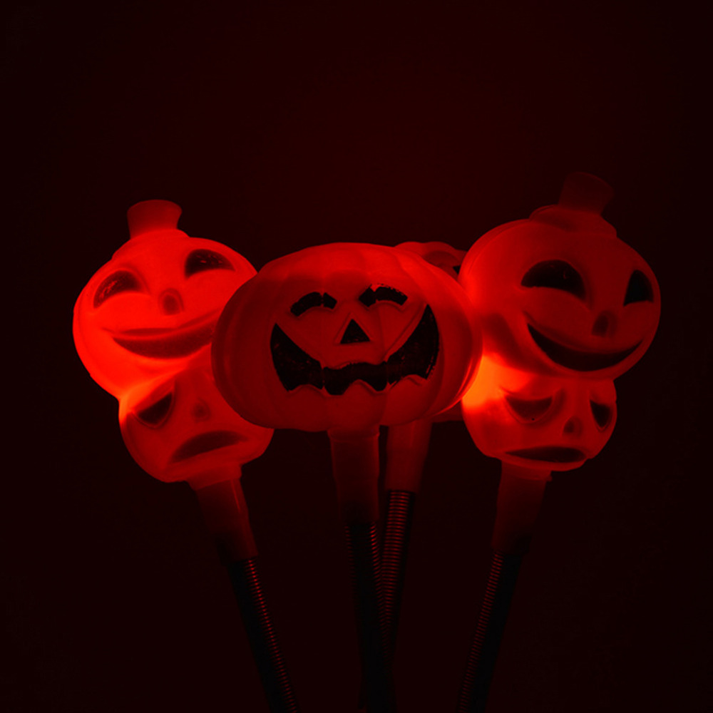 Festive & Party Supplies Glow Party Supplies Funny Halloween Pumpkin Skull Head Spring Flashing Wand Led Glow Stick Kids Gift Removing Obstruction