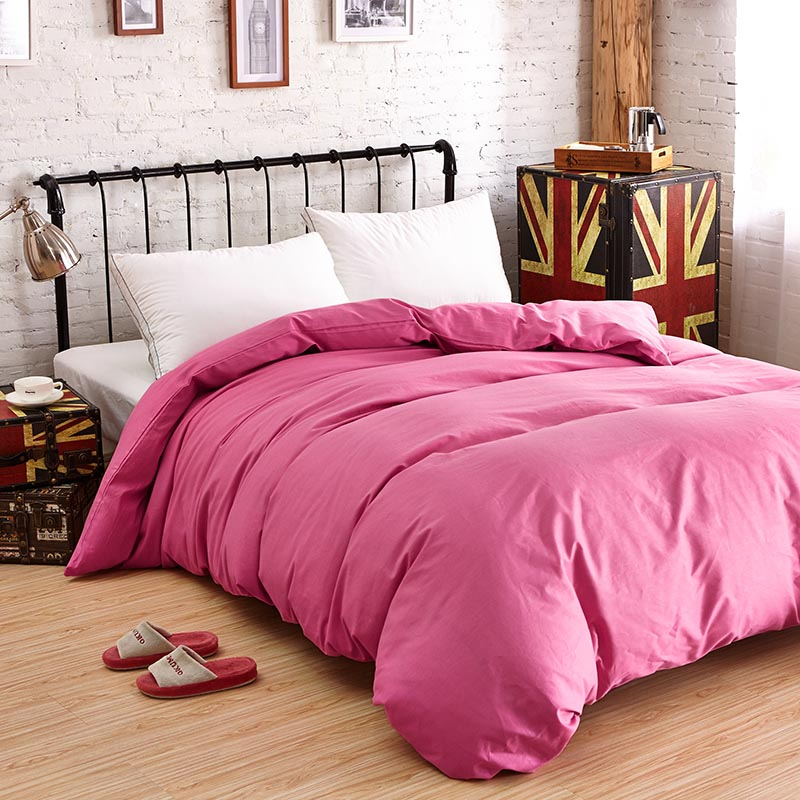 cotton duvet cover single bedroom queen size twin duvet covers 200x230cm pink quilt cover one. Black Bedroom Furniture Sets. Home Design Ideas