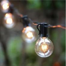 Happy Home 25pcs Black,Green Bulb 7.65M G40 Outdoor Waterproof Edison Bulb Lamp String Light Waterproof Holiday Lighting