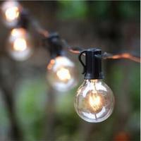 Happy Home 25pcs Black,Green Bulb 7.65M G40 Outdoor Waterproof Edison Bulb Lamp String Light Waterproof Holiday Lighting