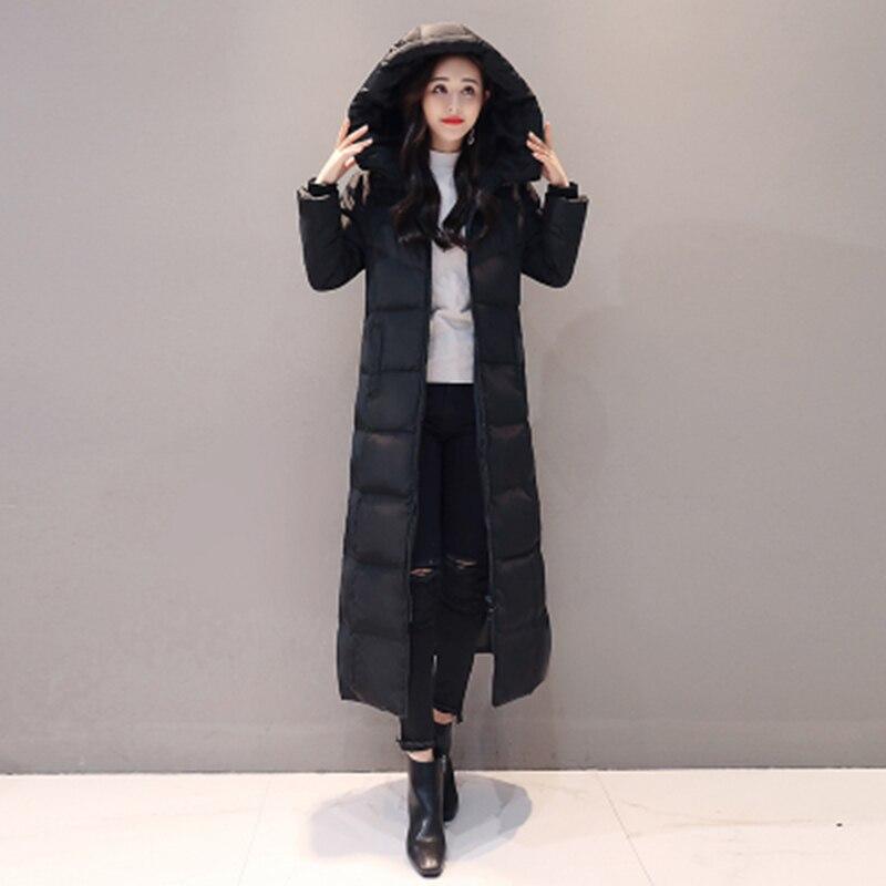 Maxi Blanco Mujeres Chaqueta Señoras Mujer Abrigo Invierno Espesar De Las F786 Abajo 2018 Cálido Capucha Elegantes Pato Negro Con rojo Largo 7xnv4wBX