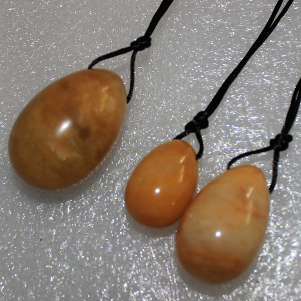 Feminine Hygiene Products Yoni Egg 3pcs/set yellow Jade Egg for Women Kegel Exerciser Tightening Vaginal Muscle Wa Ben Ball