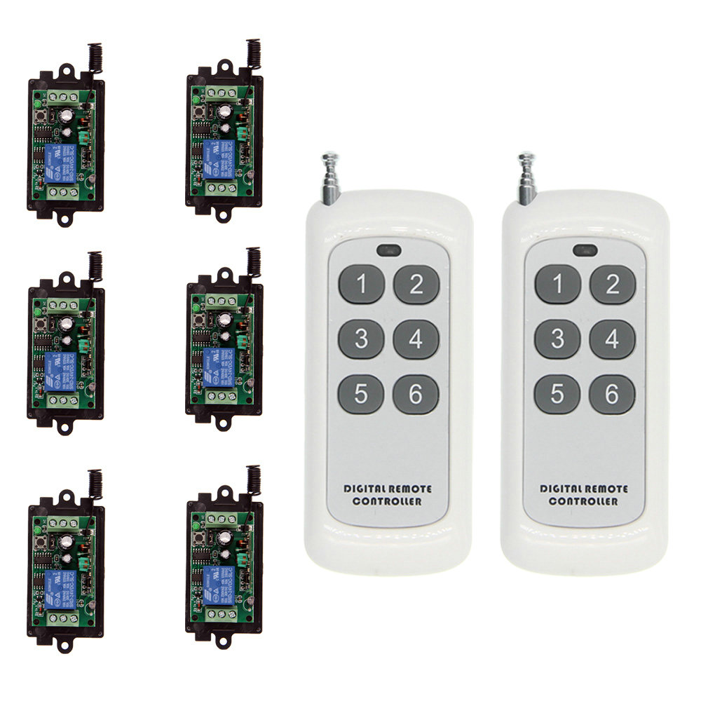 цены 500m Smart DC 9V 12V 24V 1 CH 1CH RF Wireless Remote Control LED Light Strips Motor Switch System,6CH Transmitter & Receiver