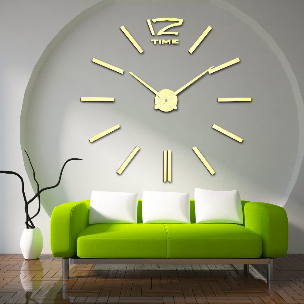 aliexpresscom  buy recommend  quartz diy d wall clock  inch  - quartz diy d wall clock  inch large clock watch best acrylic mirrormetal wall stickers clocks home decoration from reliable decorative woodenclock