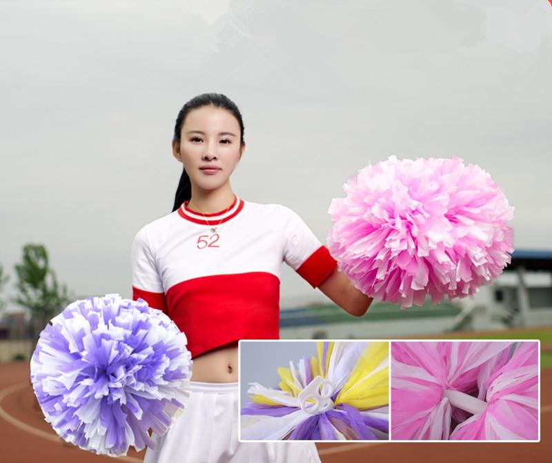 Star First Single Paragraph Cheerleading Pom Pon Cheerleading Cheer Supplies Free Shipping