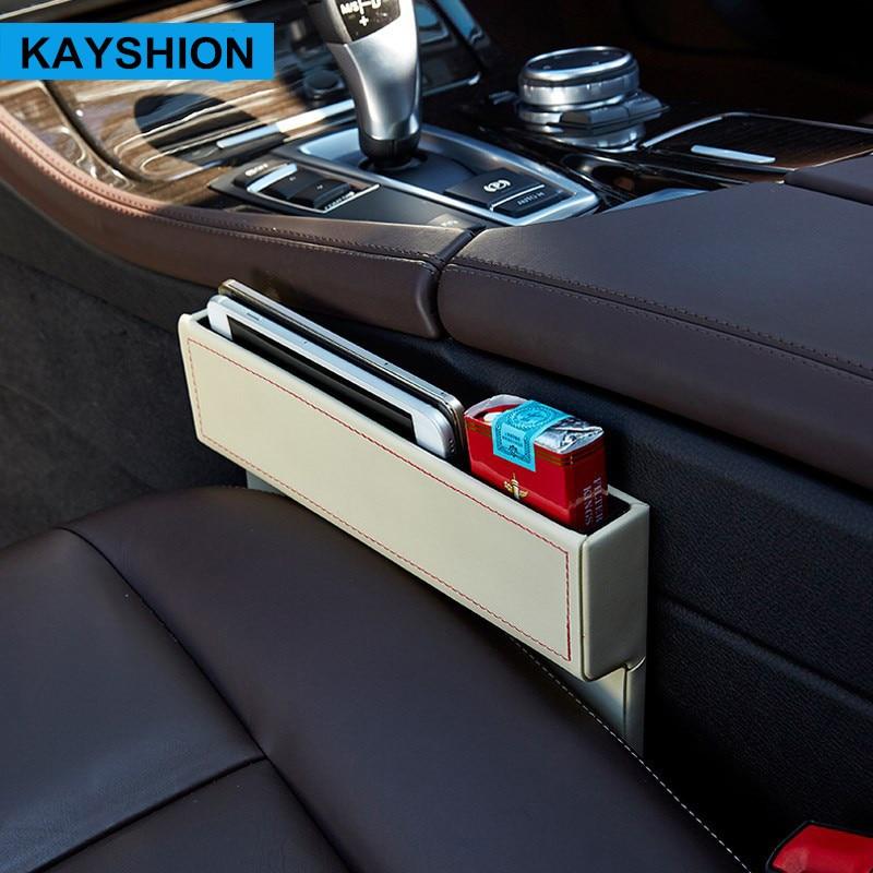 가죽 카시트 틈새 수납함 다목적 자동 틈 주최자 - 자동차 인테리어 용 액세서리 - 사진 3