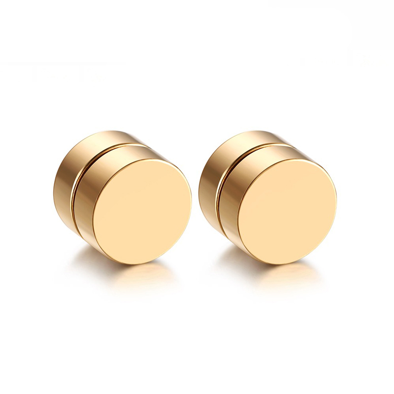 Magnetic Round Stud Earrings For Men Boy 316l Stainless Steel ...