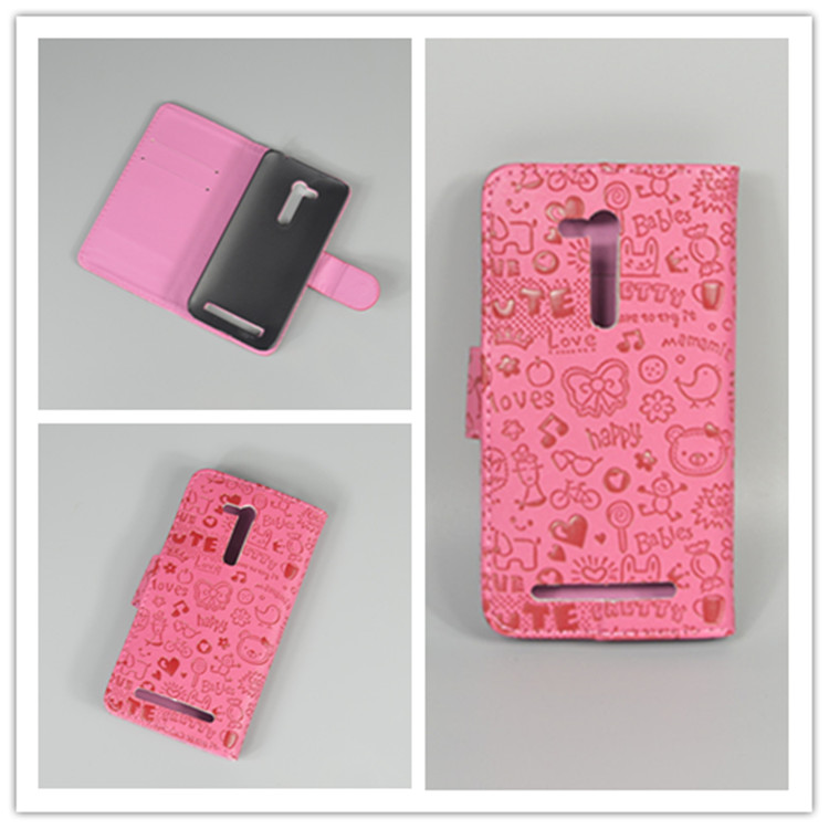 little watch Cute Leather Case Cove hold two Cards with 2 Card For Asus Zenfone Go ZB452KG 4.5 free shipping
