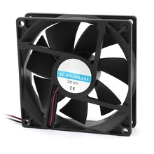 90mm x 25mm 9025 2pin 12V DC Brushless PC Case CPU Cooler Cooling Fan