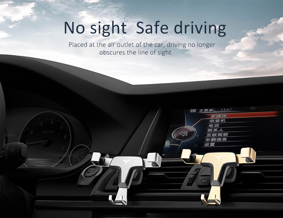!ACCEZZ 360 Air Vent Mount For Huawei P20 iPhone 8 7 6 6s Plus Xiaomi 5 Samsung S8 S9 Degree Adjustable Gravity Car Phone Holder (6)