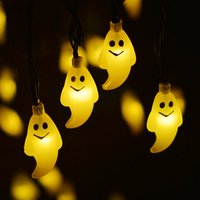 LumiParty LED Solar String Lights Outdoor Halloween Light Ghost 30LED Christmas Lights Outdoor Halloween Decoration Outdoor