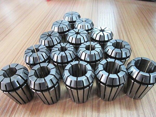 15 unids/set er25 (2-16mm) golpeando 0.1mm precisión primavera Collet de CNC fresado Tornos herramienta y motor de husillo