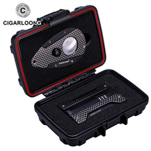 CIGARLOONG cigar lighter set Multifunction sealed box with cutter and CQ-0113