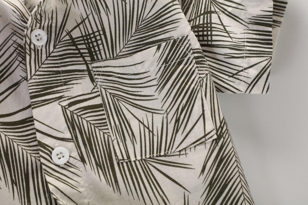 pambıq oğlan T1705 üçün 100% çiçək köynək hawaiian köynək - Uşaq geyimləri - Fotoqrafiya 5