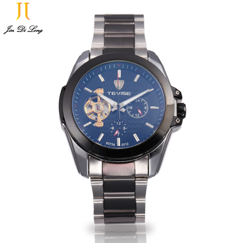 Business TEVISE Wrist Watch For Men Automatic Self-wind Men's Watches Dress Wristwatch Waterproof Relogio Masculino Xmas Gift tevise mens watches brand watch skeleton automatic self wind business mechanical steampunk wristwatch relogio masculino xmas