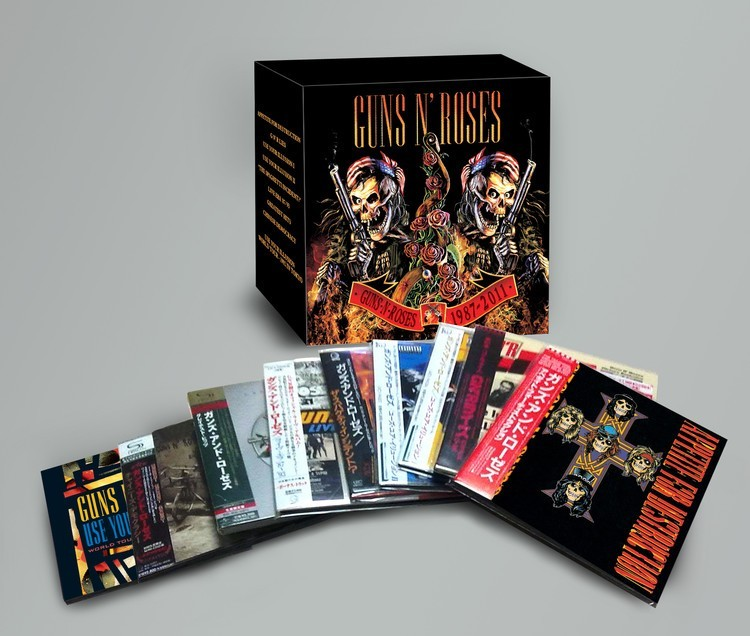 GUNS N' ROSES CD 1987-2011 9CD + 2DVD Guns N Rose Complete Boxset music cd box set brand new factory sealed футболка стрэйч printio guns n roses