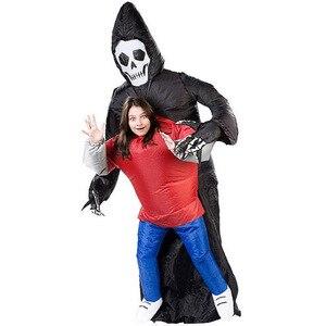 Image 2 - Disfraz inflable de la muerte para niños y adultos disfraz de Halloween, Esqueleto, fantasma